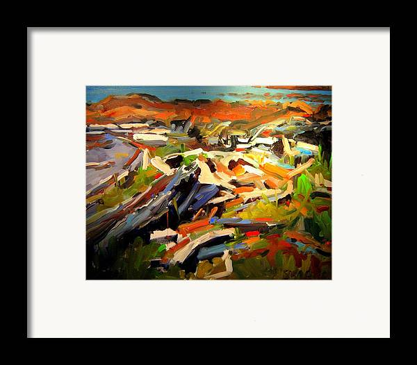 Beach Paintings Framed Print featuring the painting Beach by Brian Simons