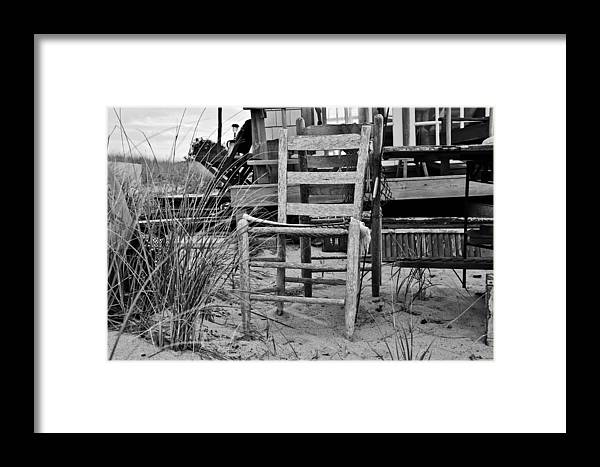 Dune Shack Framed Print featuring the photograph Beach Chair by Marisa Geraghty Photography