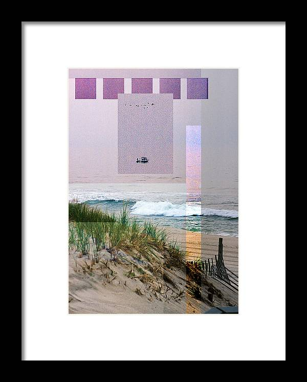 Landscape Framed Print featuring the digital art Beach Collage 3 by Steve Karol
