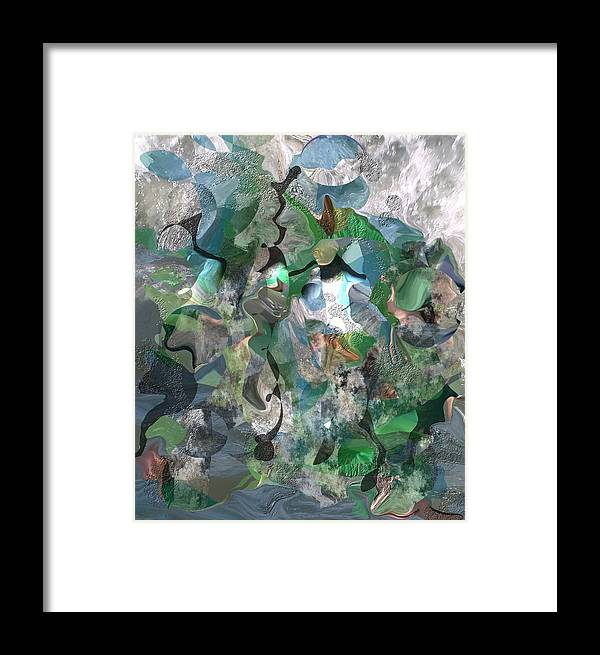 Beach Framed Print featuring the digital art Beach Collage by Peter Shor