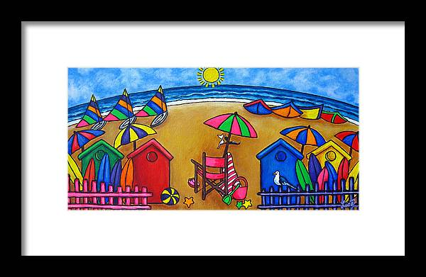 Beach Framed Print featuring the painting Beach Colours by Lisa Lorenz