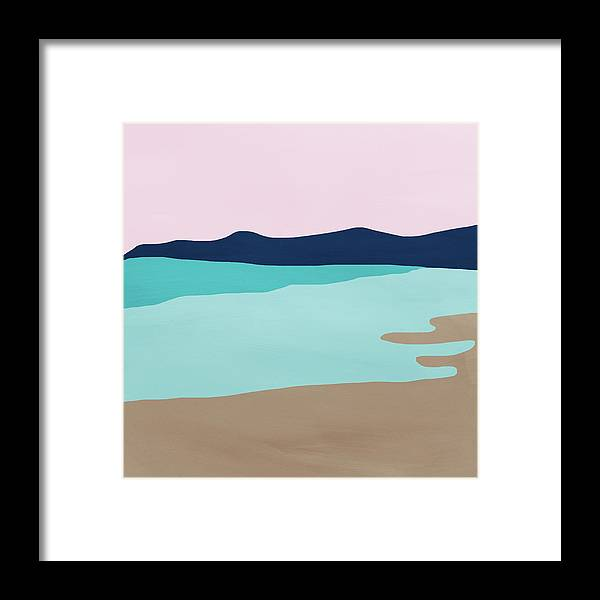 Beach Framed Print featuring the mixed media Beach Cove- Art by Linda Woods by Linda Woods