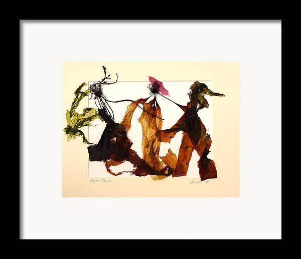 Feet Framed Print featuring the mixed media Beach Dance by Lisabeth Billingsley