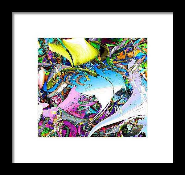 Abstract Framed Print featuring the digital art Beach by Dave Kwinter
