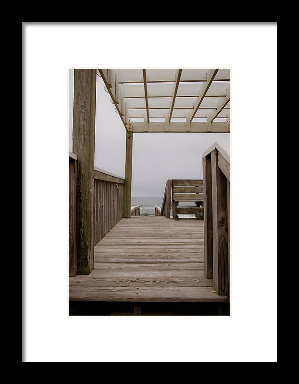 Beach Framed Print featuring the photograph Beach Deck by Patrick Flynn