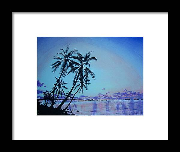 Beach Framed Print featuring the painting Beach Dream by Ken Day
