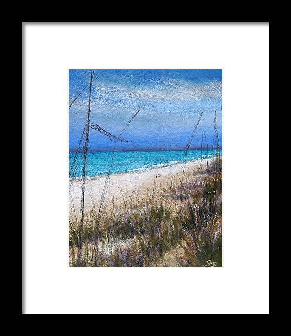 Beach Framed Print featuring the pastel Beach Dreaming by Susan Jenkins
