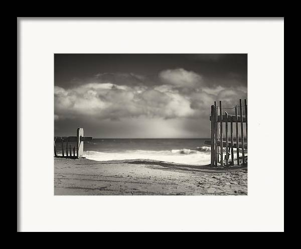Beach Framed Print featuring the photograph Beach Fence - Wellfleet Cape Cod by Dapixara Art