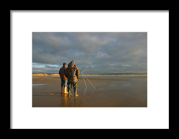 Dunnet Bay Framed Print featuring the photograph Beach Fishing by Mike Bambridge