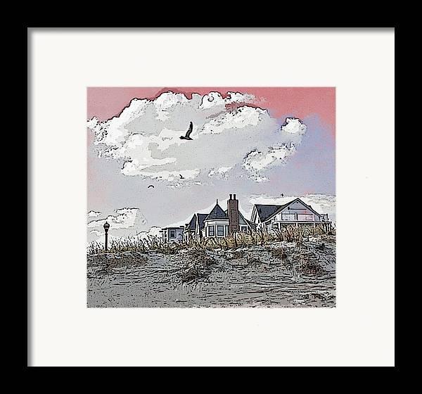 Beach house framed print by k26photopix for Beach house prints
