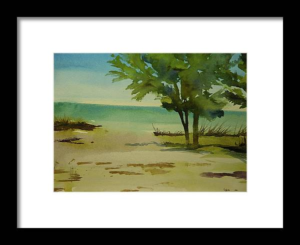 Walt Maes Framed Print featuring the painting Beach In Anna Maria Florida by Walt Maes