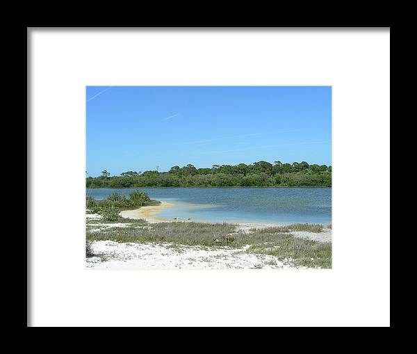 Lake Framed Print featuring the photograph Beach Inland Lake by Peter McIntosh