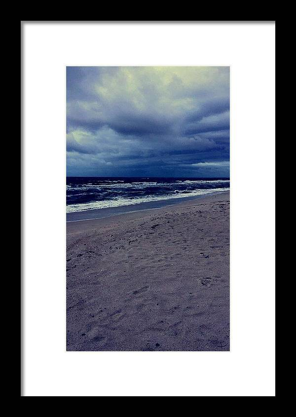 Framed Print featuring the photograph Beach by Kristina Lebron