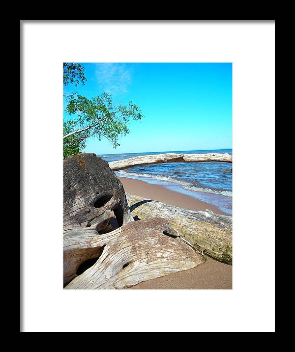 Beach Framed Print featuring the photograph Beach Lodging by Peter Mowry