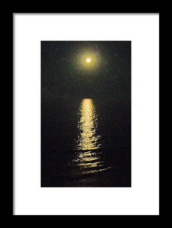 Moon Framed Print featuring the photograph Beach Moonglow by Patricia Taylor