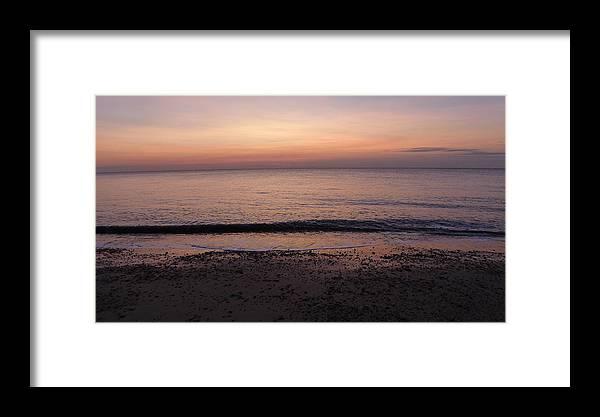 Dawn Framed Print featuring the photograph Beach Ocean Waves At Dawn 1 by Richard Griffin