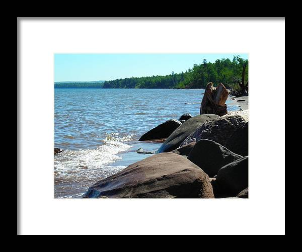 Beach Framed Print featuring the photograph Beach On The Rocks by Peter Mowry
