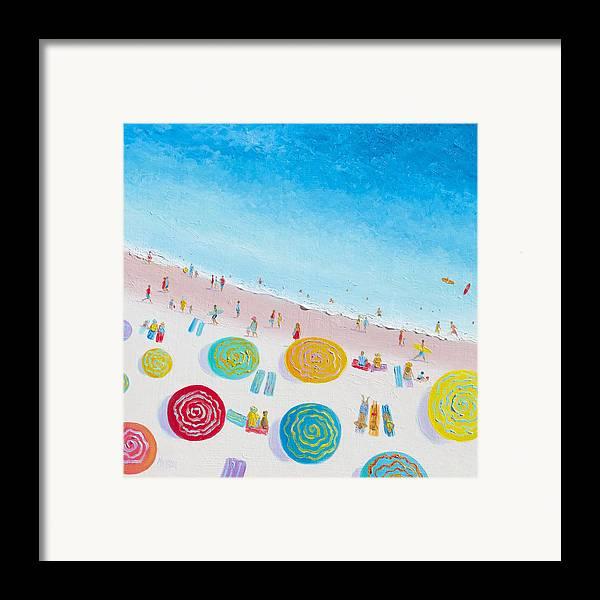 Beach Framed Print featuring the painting Beach Painting - Beach Bliss by Jan Matson