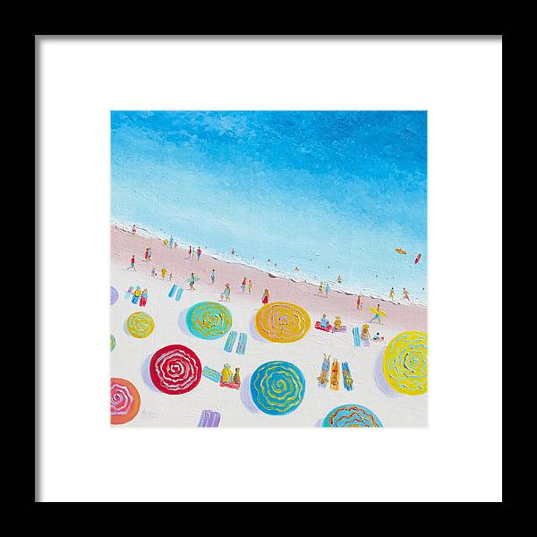 Beach Framed Print featuring the painting Beach Painting - Beach Bliss by Jan Matson