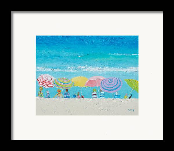 Beach Framed Print featuring the painting Beach Painting - Color Of Summer by Jan Matson