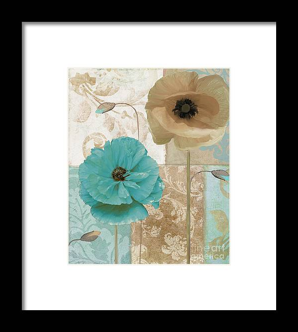 Beach House Framed Print featuring the painting Beach Poppies by Mindy Sommers