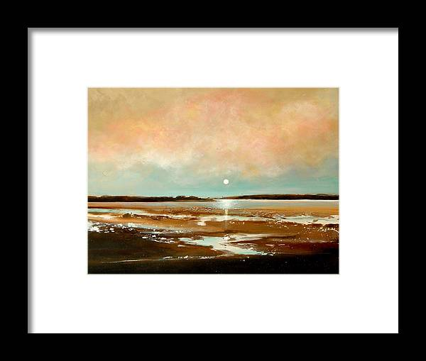 Beach Framed Print featuring the painting Beach Reflections by Toni Grote