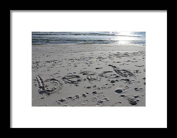 Beach Framed Print featuring the photograph Beach, Self-named by Laura Martin