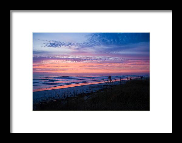 Sunrise Framed Print featuring the photograph Beach Sunrise by Patrick Flynn
