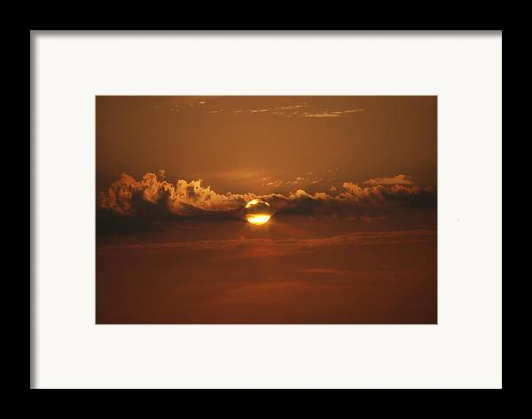 Landscape Framed Print featuring the photograph Beach Sunset 2 by Lisa Gabrius