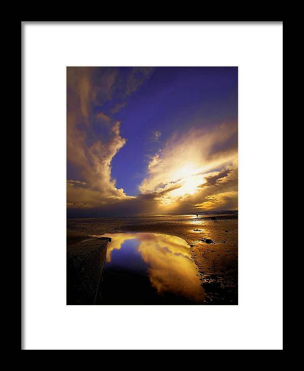 Beach Framed Print featuring the photograph Beach Sunset by Svetlana Sewell