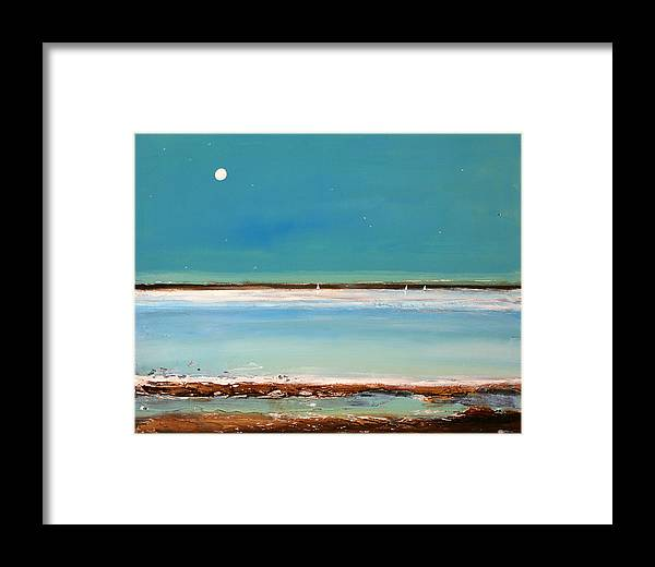 Landscape Framed Print featuring the painting Beach Textures by Toni Grote