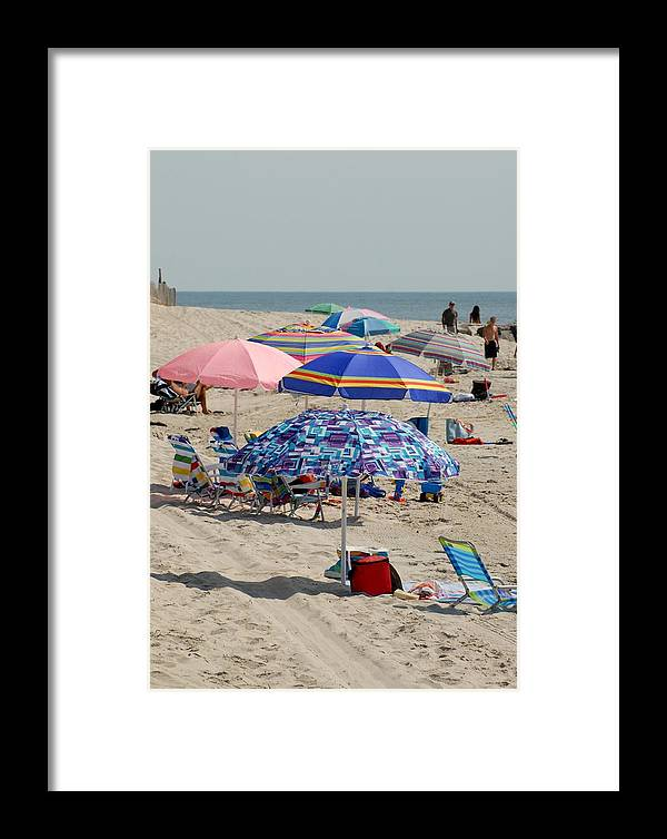 Beach Framed Print featuring the photograph Beach Umbrella 27 by Joyce StJames