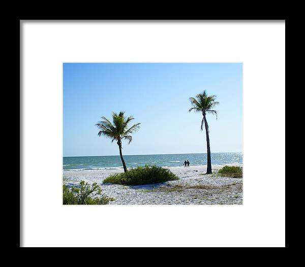 Beach Framed Print featuring the photograph Beach Walk by Florene Welebny