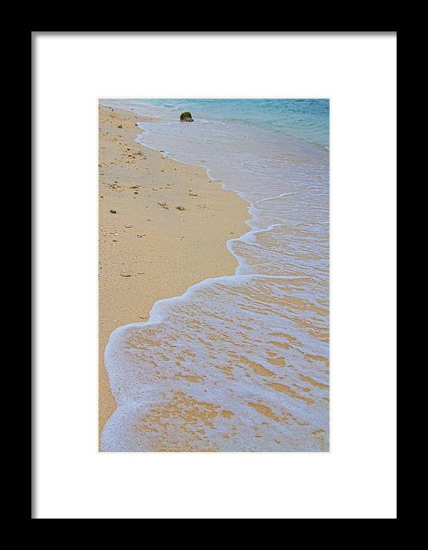 stock Images Framed Print featuring the photograph Beach Water Curves by James BO Insogna