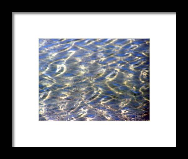 Blue Water Framed Print featuring the photograph Beach Water Reflection by Patricia Taylor