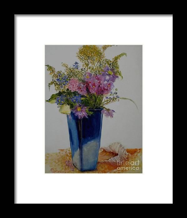 Wildflowers Framed Print featuring the painting Beach Wildflowers      Copyrighted by Kathleen Hoekstra