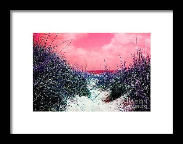 Beach Framed Print featuring the photograph Beach Worx by Meghann Brunney