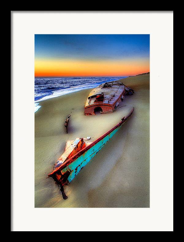 North Carolina Framed Print featuring the photograph Beached Beauty by Dan Carmichael
