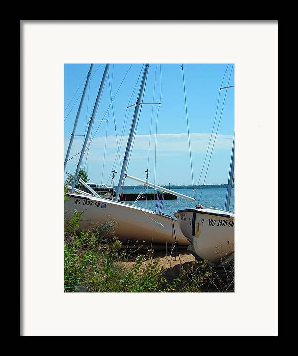Boats Framed Print featuring the photograph Beached by Peter Mowry