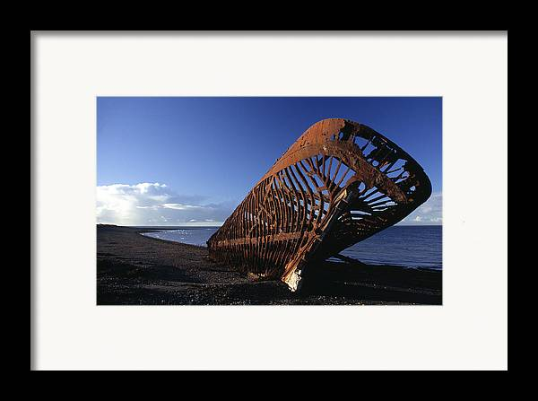 Patagonia Framed Print featuring the photograph Beached Ship by Marcus Best