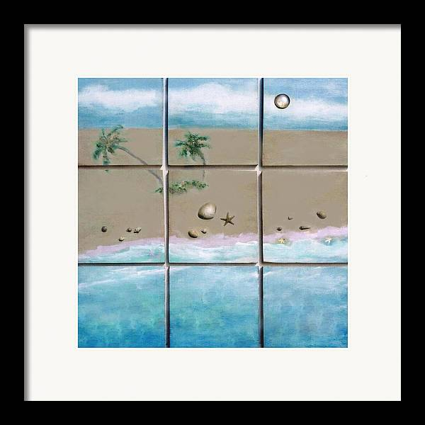 Beaches Framed Print featuring the mixed media Beaches Cubed by Mary Ann Leitch