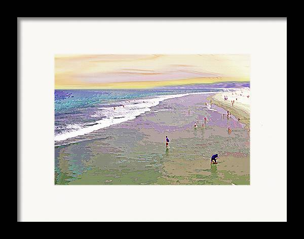California Framed Print featuring the photograph Beachgoers 1 by Steve Ohlsen