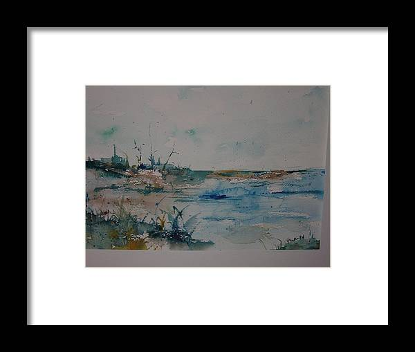 Grasses Framed Print featuring the painting Beachside by Robin Miller-Bookhout