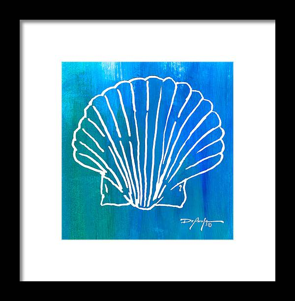 Shell Framed Print featuring the mixed media Beachside Shell by William Depaula