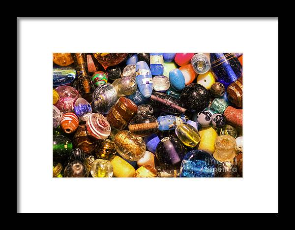 Bead Framed Print featuring the photograph Bead Pile by Joe Geraci