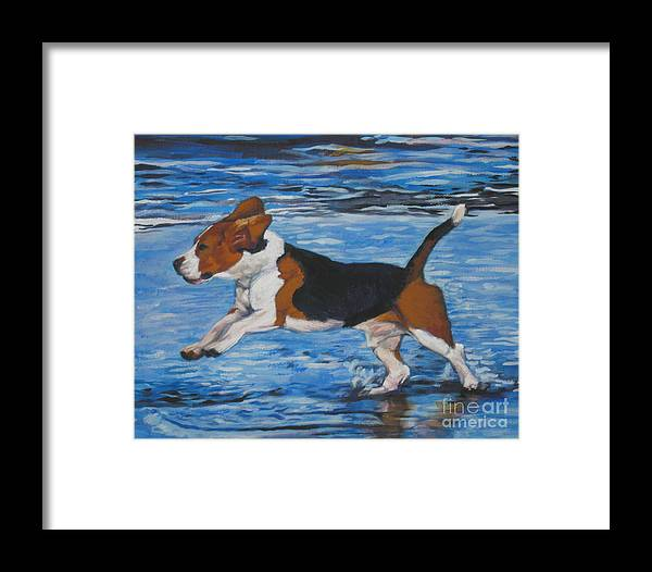 Beagle Framed Print featuring the painting Beagle by Lee Ann Shepard