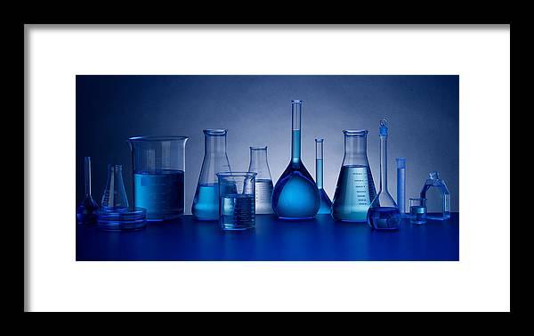 Beakers Framed Print featuring the photograph Beakers by John Wong