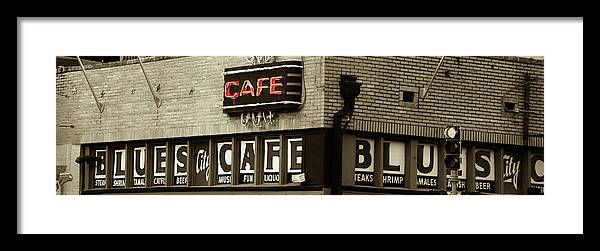 Eat Framed Print featuring the photograph Beale Street, Memphis by John Nelson