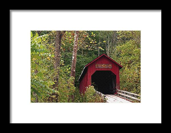 Covered Bridge Framed Print featuring the photograph Bean Blossom Bridge I by Margie Wildblood