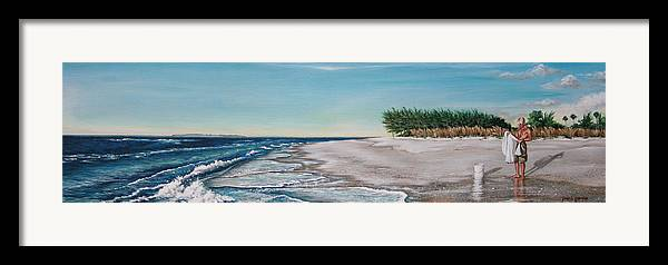 Beach Framed Print featuring the painting Bean Point by Joan Garcia